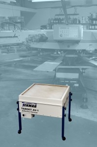 Tekmar's Target AV-1 for capturing aerosol adhesive overspray and airborne particles.
